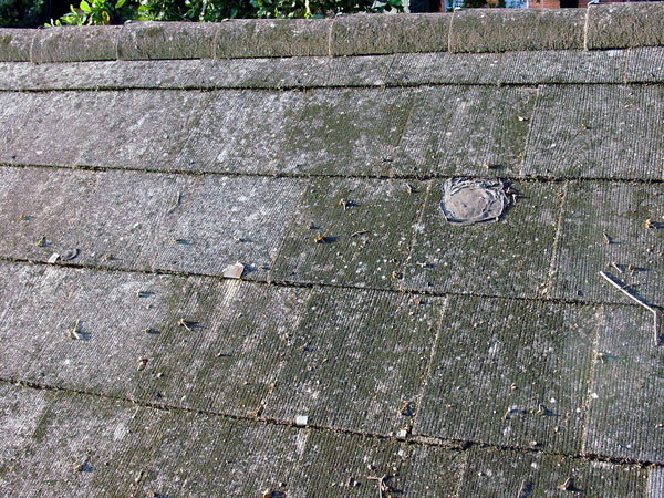 How To Identify Your Roof Slate - asbestos (not slate)  roof.