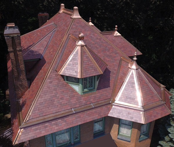 How To Identify Your Roof Slate - New York red  slate roof.