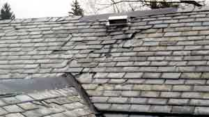 How To Identify Your Roof Slate - Pennsylvania  soft black slate roof at 90 years.