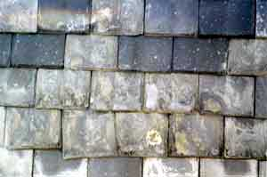 How To Identify Your Roof Slate - Pennsylvania  soft black slate roof at 120 years.