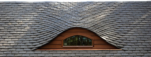 How To Identify Your Roof Slate - Vermont black, extra heavy  slate roof.