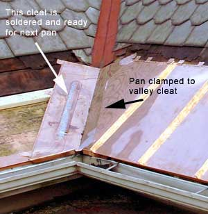 One Way To Install Copper Snow Aprons On Slate Roofs