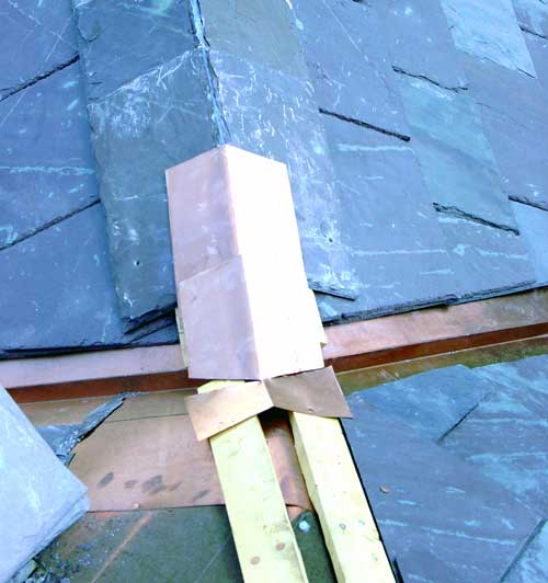 Slate Roof Central - Installing a ridge and hip juncture.
