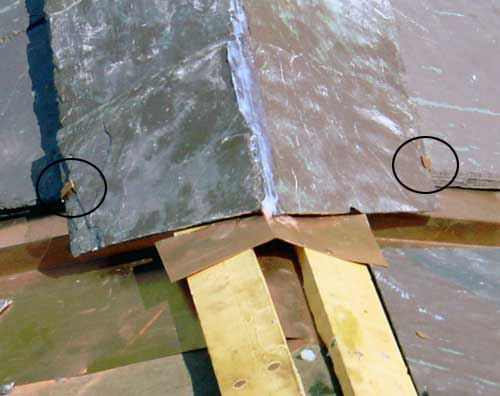 Slate Roof Central - Installing a ridge/hip joint