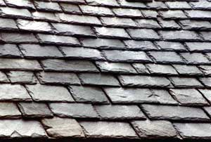 Slate Roof Central - Styles of Slate Roof Installations - random width pattern